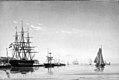 Emanuel Larsen - The Harbour at Nieuwe Diep in North Holland - KMS717 - Statens Museum for Kunst.jpg