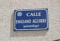 Emiliano Aguirre street sign - Burgos, Spain.jpg