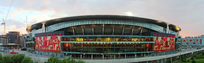 Emirates Stadium east side at dusk.jpg