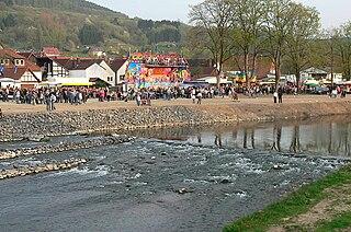 Emmer (Weser) River in Germany
