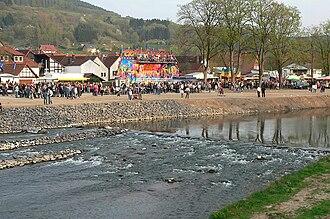 Emmer (Weser) - The Emmer in Lügde