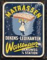 Enamel advertising sign, Matrassen, Dekens, Ledikanten, Wassenaar Jansweg t o station.JPG