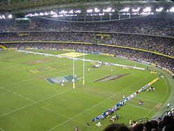 Una fase di Australia - Inghilterra a Sydney il 17 giugno 2006