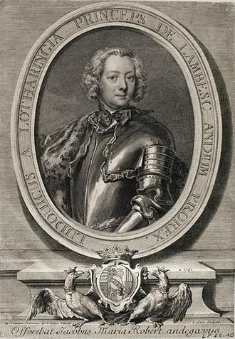 Louis, Prince of Brionne - Engraving of Louis