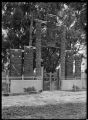 Entrance gateway to Ebbett Park, Hastings, created from carvings from different Maori buildings. ATLIB 290825.png