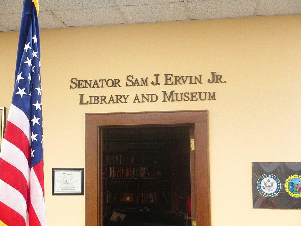 Entrance to Ervin Library, Morganton, NC IMG 5227