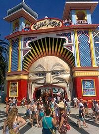 Entrance to Melbourne's Luna Park 2014.jpg