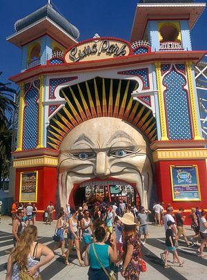 Luna Park, Melbourne - Image: Entrance to Melbourne's Luna Park 2014