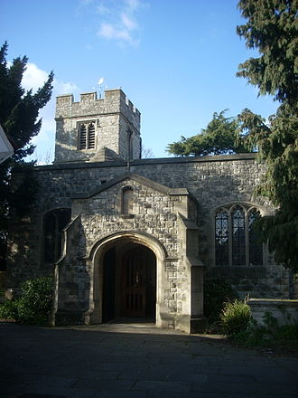 Church End, Finchley - The entrance to St Mary's church