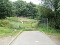 Entrance to woodland on the north side of Gaer Fort, Newport - geograph.org.uk - 2528784.jpg