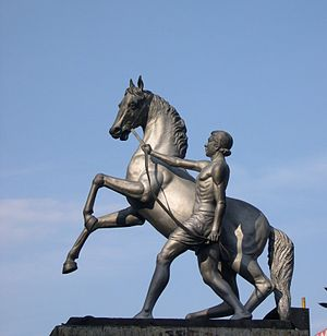 Anna Flyover - Equestrian statue on the Nungambakkam side of Anna flyover