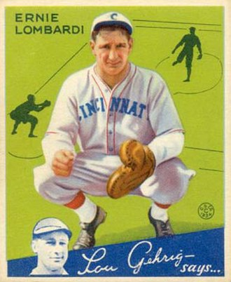 Ernie Lombardi - Baseball card of Lombardi