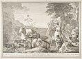 Esau con le mogli figli e sostanze si separa dal fratello giacobbe MET DP816647.jpg