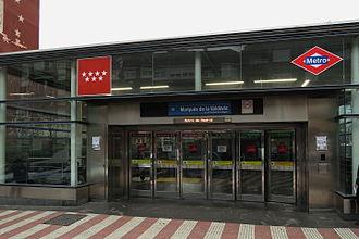 Marqués de la Valdavia (Madrid Metro) - Image: Estación de Marqués de la Valdavia
