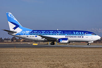 Estonian Air - A former Estonian Air Boeing 737-300 in 2011