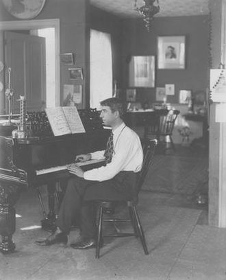 Ethelbert Nevin - Ethelbert Nevin, c. 1900. This image is from the Ethelbert Nevin Collection and Archive housed and maintained by the American Center for Music at the University of Pittsburgh Library System, University of Pittsburgh