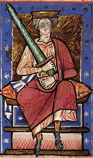 Æthelred the Unready - Æthelred in an early thirteenth-century copy of the Abingdon Chronicle