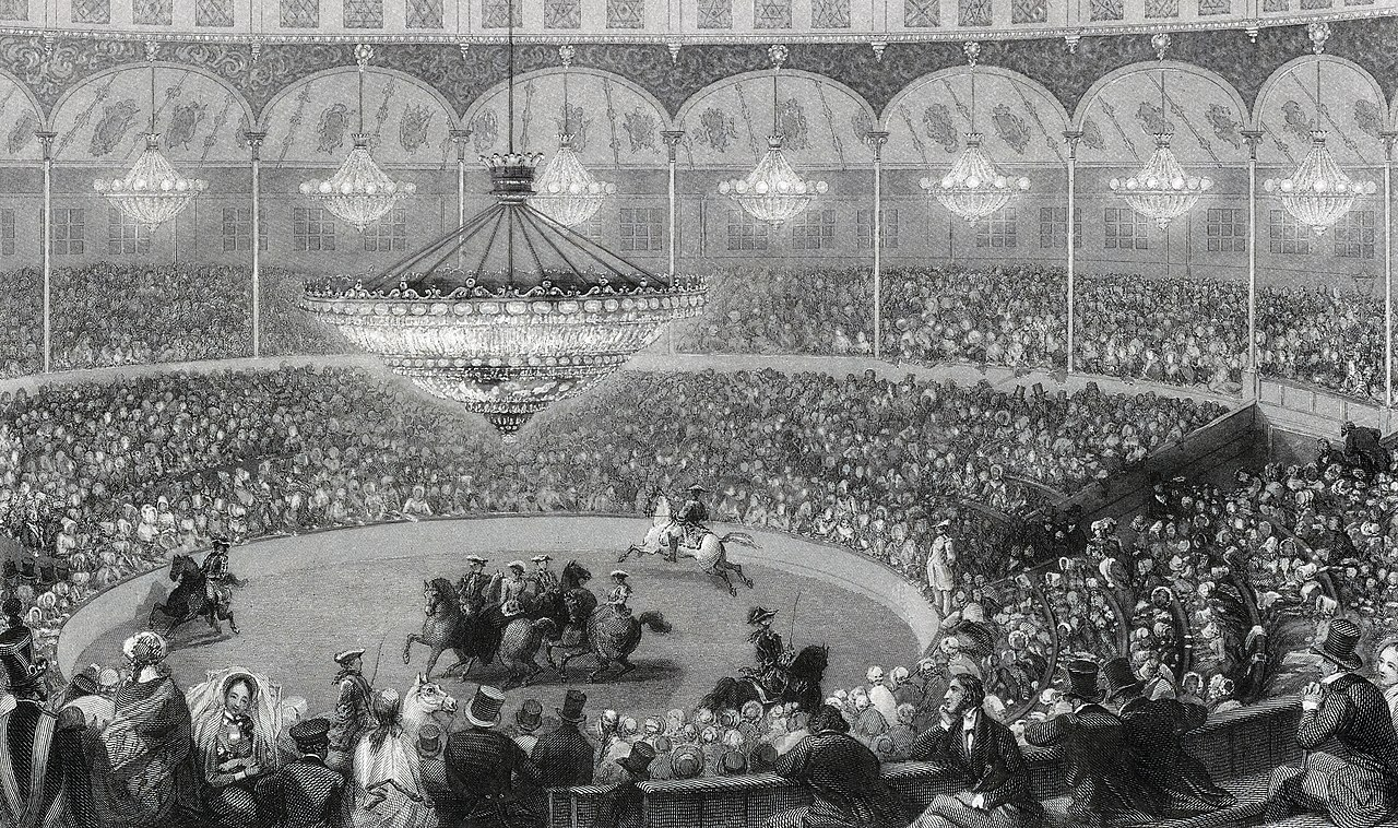 File:Eugène Louis Lami, Circus, Champs Elysees, Paris - NYPL Digital Collections.jpg