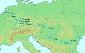 Seine River On Map Of Europe.Rhine Main Danube Canal Wikipedia