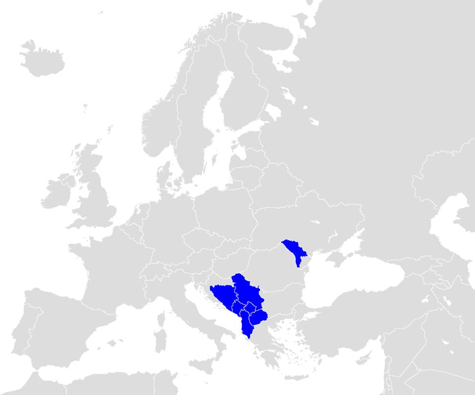 Europe-cefta-map