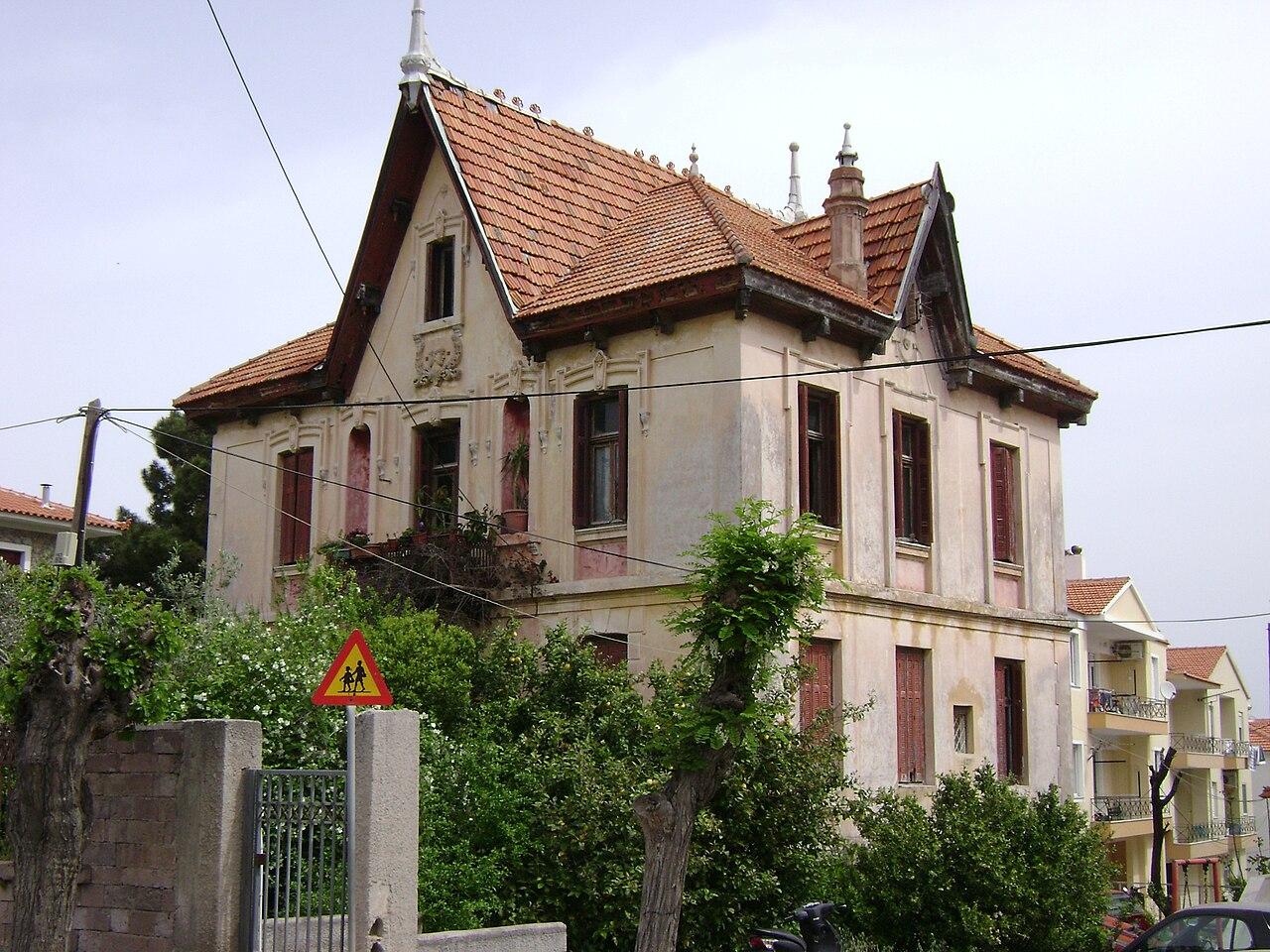 File European Architecture House El Venizelou Street
