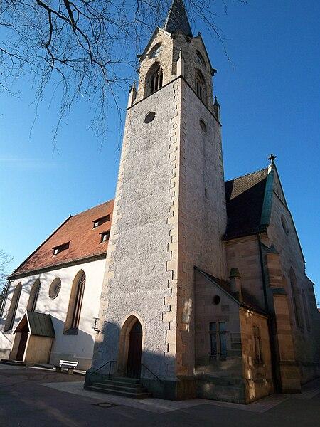 https://upload.wikimedia.org/wikipedia/commons/thumb/b/b3/Evangelische_Kirche_Lustnau.JPG/450px-Evangelische_Kirche_Lustnau.JPG