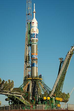 Soyuz TMA-11M - Image: Expedition 38 Soyuz Rollout (201311050029HQ)