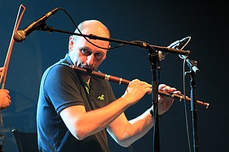 Irish flute - Michael McGoldrick in Lorient in 2013.
