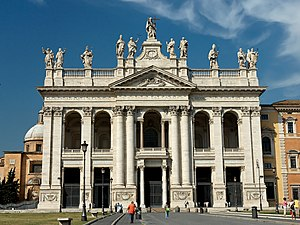 Lateran - Late Baroque façade of the Basilica di San Giovanni in Laterano, completed after a competition for the design by Alessandro Galilei in 1735