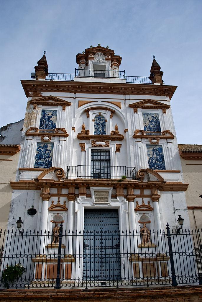 Façade de l'église San Jorge de l'hopital de la Caridad à Séville - Photo d'Anual