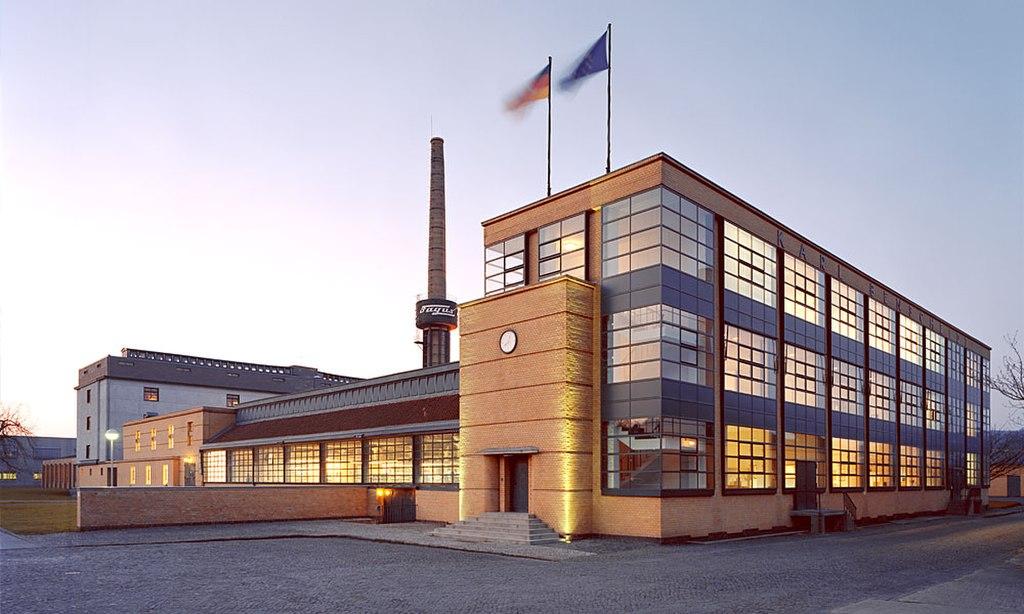 Fagus-Werk Alfeld (UNESCO-Welterbe in Niedersachsen). Architekt: Walter Gropius, Adolf Meyer, Ernst E. Werner. Hauptgebaeude