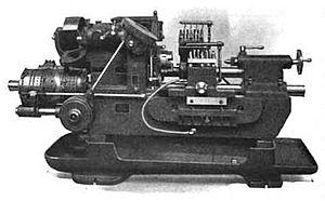 Automatic lathe - Image: Fay automatic lathe