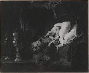 Isaac blessing Esau
