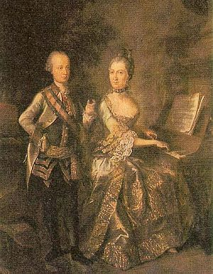 Maria Beatrice d'Este, Duchess of Massa - Maria Beatrice of Modena and her husband Archduke Ferdinand