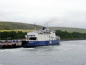 Cairnryan - Ferry berthed at Cairnryan