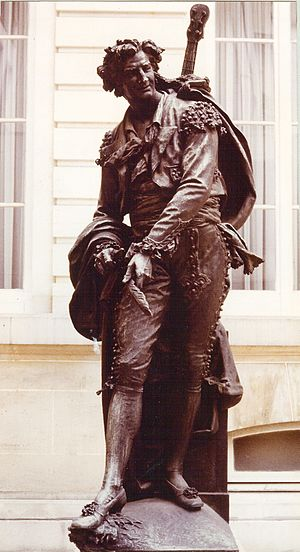 The Barber of Seville (play) - Statue of Figaro (1873) by Jean Barnabé Amy