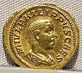 Filippo I, emissione aurea per filippo II cesare, 244-247.JPG