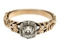 Fingerring av guld med briljant, 1700-talets mitt - Hallwylska museet - 110172.tif