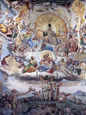 Last Judgment (detail ). Dome of Florence Cath...