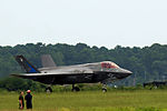 First F-35B Lightning II arrives at MCAS Beaufort 140717-M-UU619-703.jpg