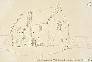 The Abbot's Fish House, Meare - Image: Fish house in 1826
