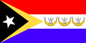 Municipalities of East Timor - Image: Flag of Liquica
