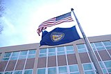 Flag of Nebraska flown from its Labor Department Building