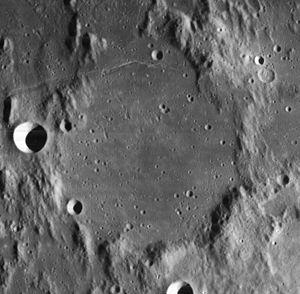 Flammarion (lunar crater) - Image: Flammarion crater 4108 h 3