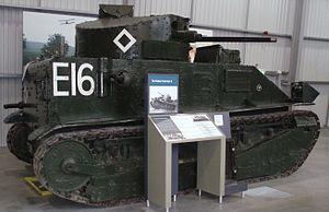Vickers Medium Mark II - Vickers Medium Mark II at the Bovington Tank Museum