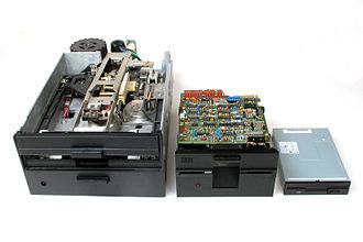 Disk storage - Three floppy disk drives