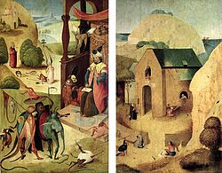Hieronymus Bosch: The holy Jacob and the magician Hermogenes