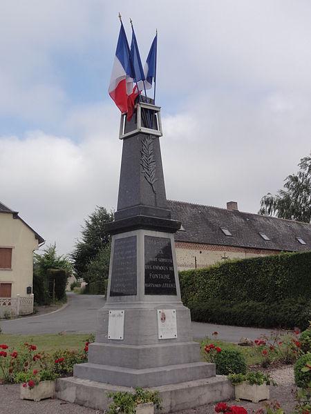 Fontaine-lès-Vervins (Aisne) monument aux morts