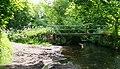 Footbridge across the River Dove at Bridge End Farm - geograph.org.uk - 1714368.jpg