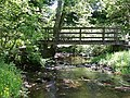 Footbridge over the Waren Burn at Twizell Mill - geograph.org.uk - 840910.jpg